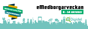 Bild om eMedborgarveckan 2018 som passar att lägga som huvudbild på ett Twitterkonto
