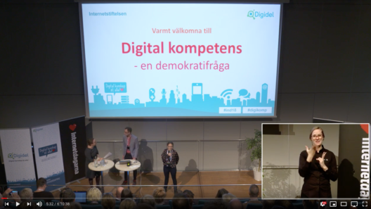 Scenen under Internetdagarna