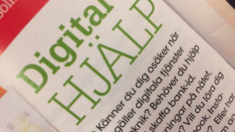 Foto på en artikel i Hemmets veckotidning