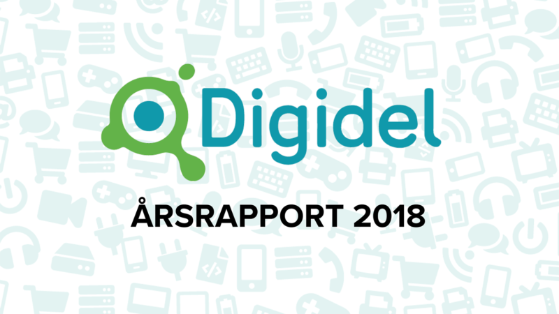 Digidel-logo med texten årsrapport 2018