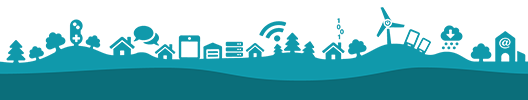 Digital landsbygdsiluett
