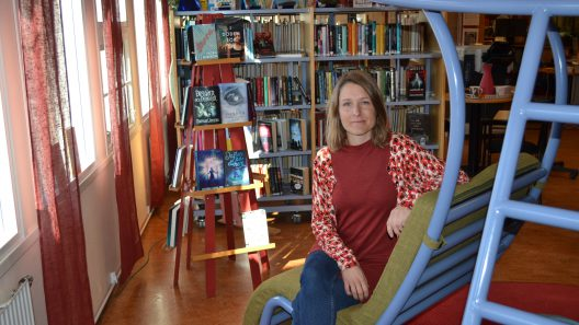 Evelina Andersson är it-bibliotekarie på Skinnskattebergs bibliotek.