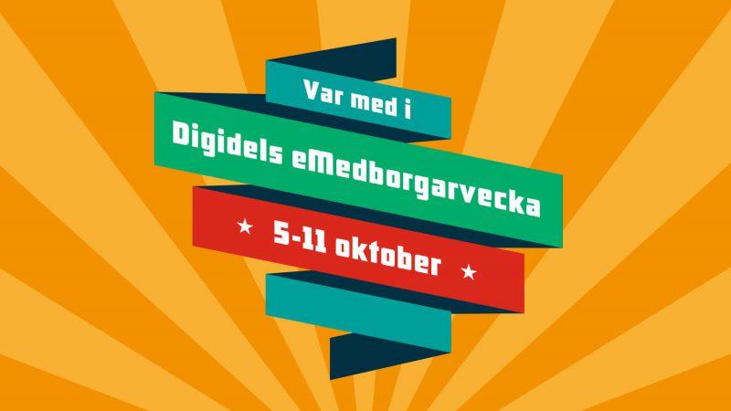 Logotyp eMedborgarveckan