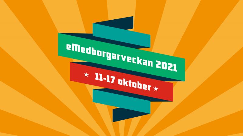 Logotyp eMedborgarveckan 11-17 oktober 2021